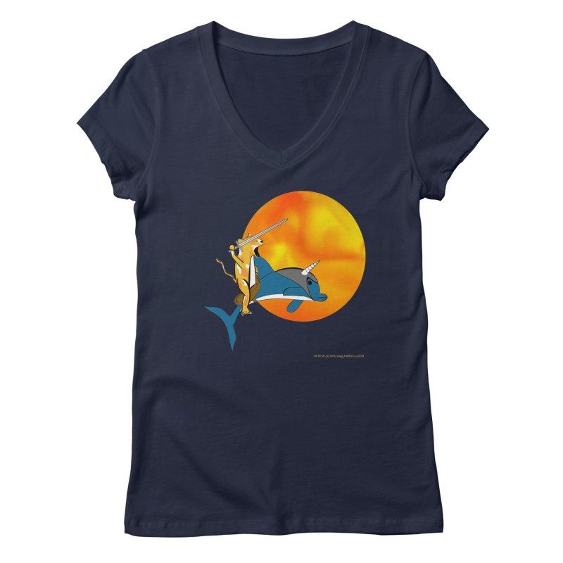 Ride Into The Sun (Sun Version) Women's V-Neck by Every Drop's An Idea's Artist Shop