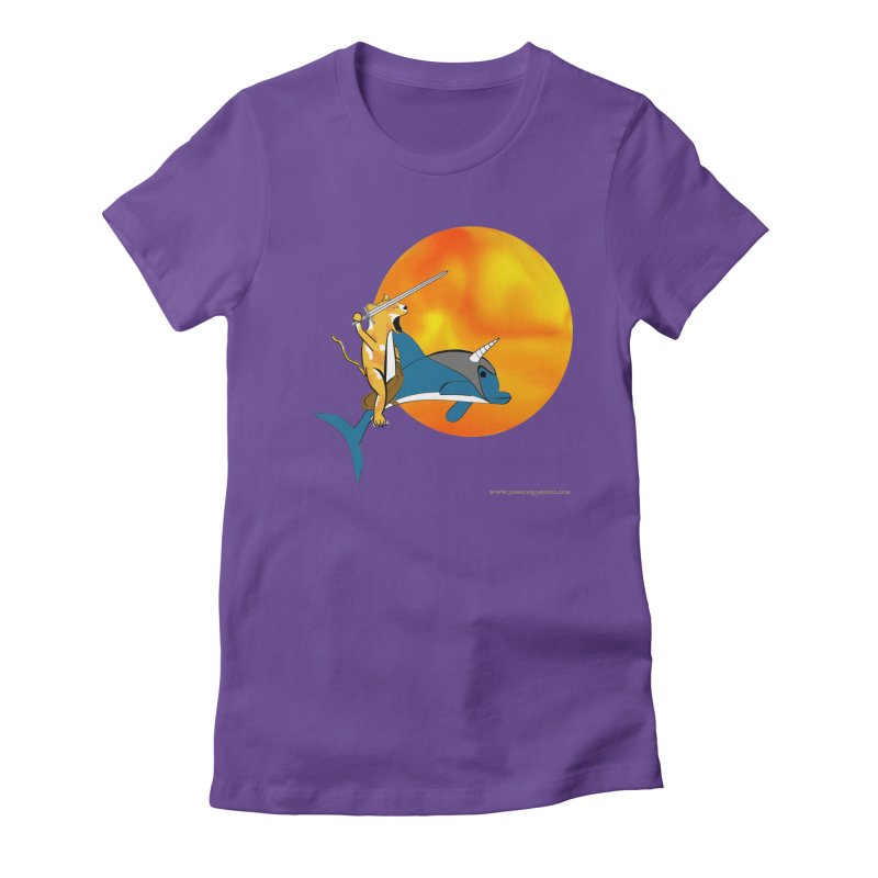 Ride Into The Sun (Sun Version) Women's Fitted T-Shirt by Every Drop's An Idea's Artist Shop