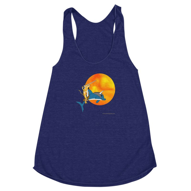 Ride Into The Sun (Sun Version) Women's Racerback Triblend Tank by Every Drop's An Idea's Artist Shop