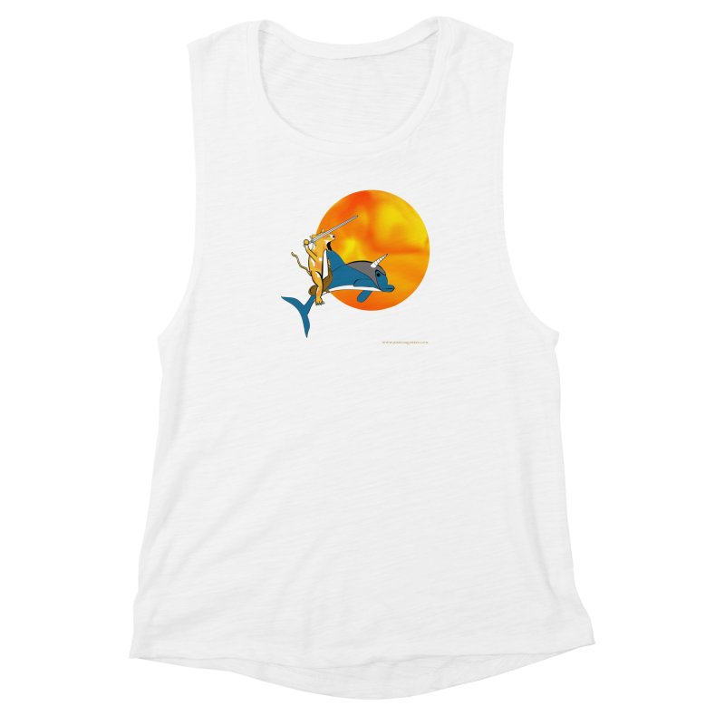 Ride Into The Sun (Sun Version) Women's Muscle Tank by Every Drop's An Idea's Artist Shop