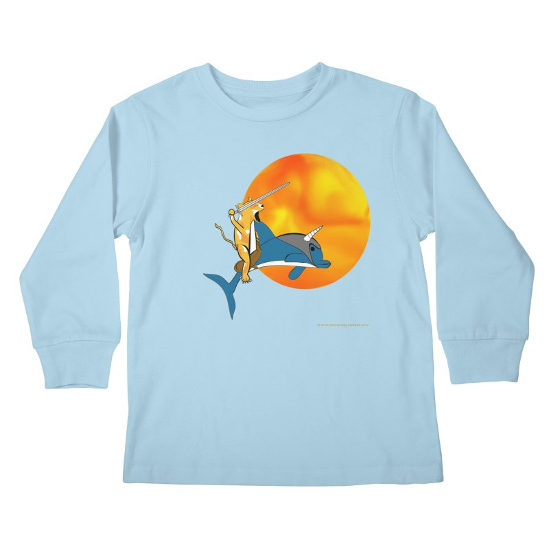 Ride Into The Sun (Sun Version) Kids Longsleeve T-Shirt by Every Drop's An Idea's Artist Shop