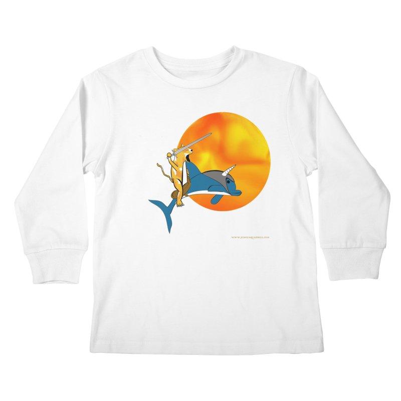 Ride Into The Sun (Sun Version) Kids Longsleeve T-Shirt by Every Drop's An Idea's Artist Shop