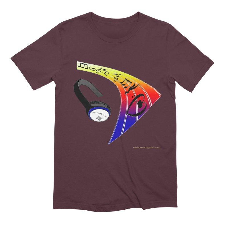 Music Is My Heart Men's T-Shirt by Every Drop's An Idea's Artist Shop