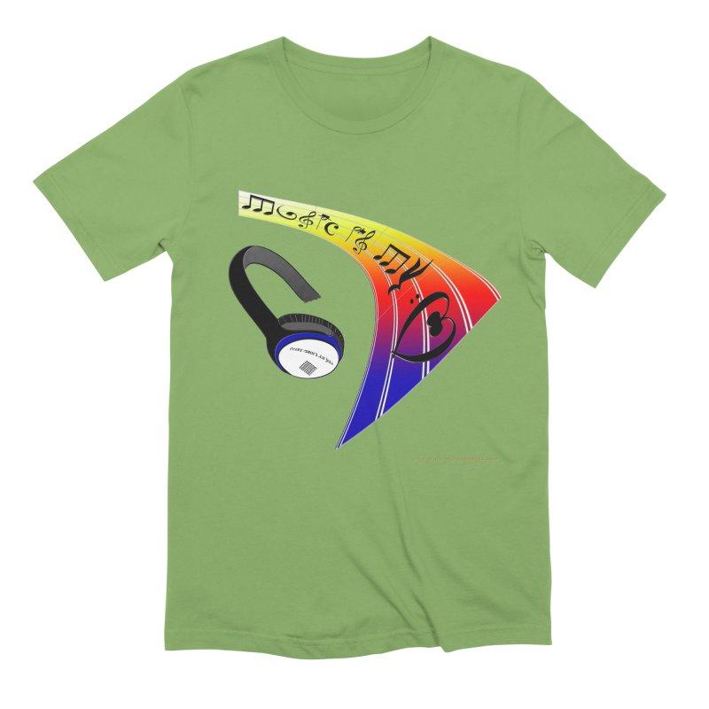 Music Is My Heart Men's Extra Soft T-Shirt by Every Drop's An Idea's Artist Shop