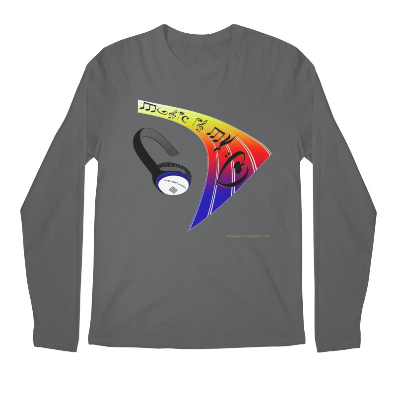 Music Is My Heart Men's Longsleeve T-Shirt by Every Drop's An Idea's Artist Shop