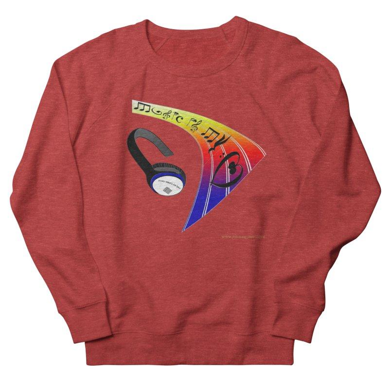 Music Is My Heart Men's Sweatshirt by Every Drop's An Idea's Artist Shop