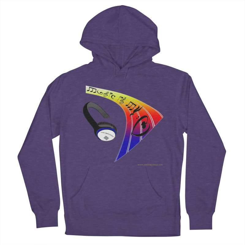 Music Is My Heart Men's French Terry Pullover Hoody by Every Drop's An Idea's Artist Shop