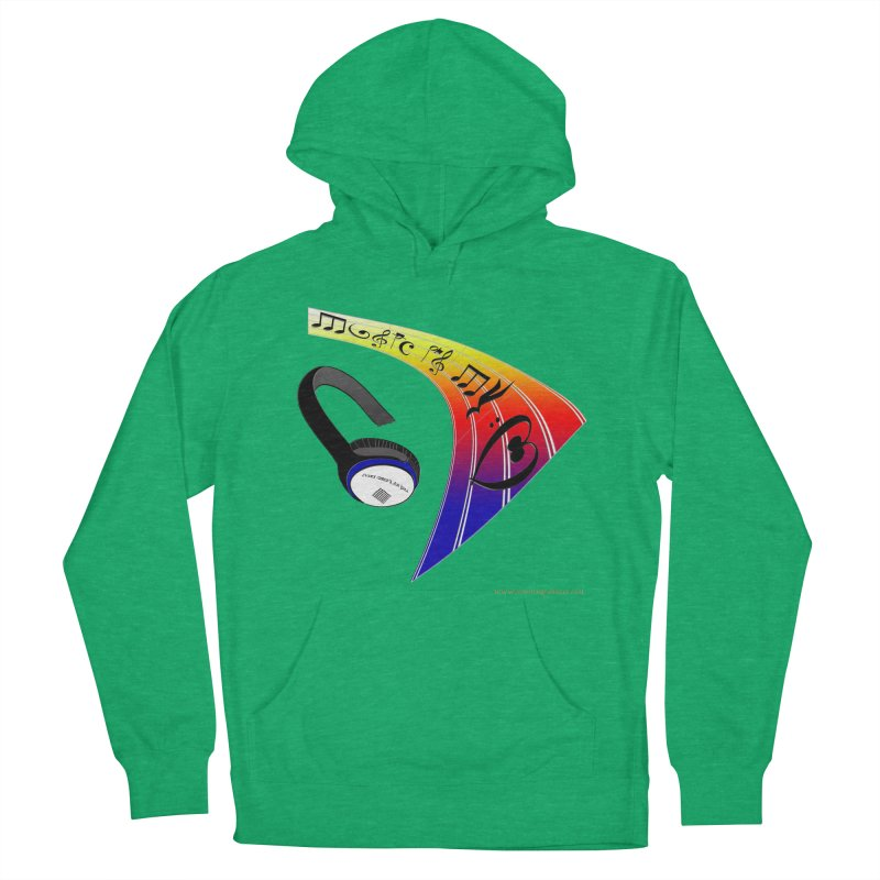 Music Is My Heart Men's Pullover Hoody by Every Drop's An Idea's Artist Shop