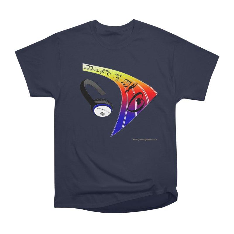 Music Is My Heart Men's Heavyweight T-Shirt by Every Drop's An Idea's Artist Shop