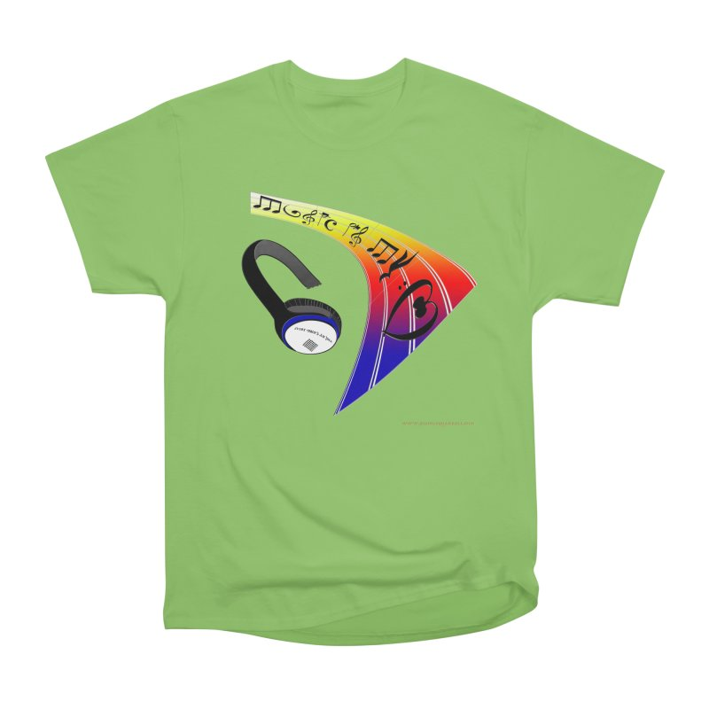 Music Is My Heart Women's Heavyweight Unisex T-Shirt by Every Drop's An Idea's Artist Shop