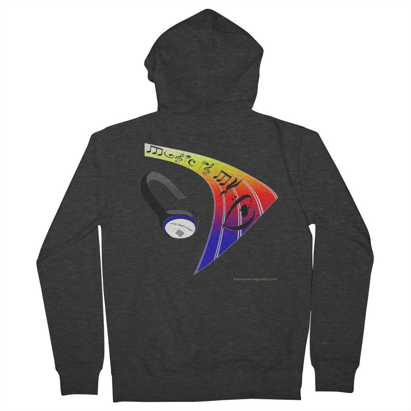 Music Is My Heart Women's Zip-Up Hoody by Every Drop's An Idea's Artist Shop