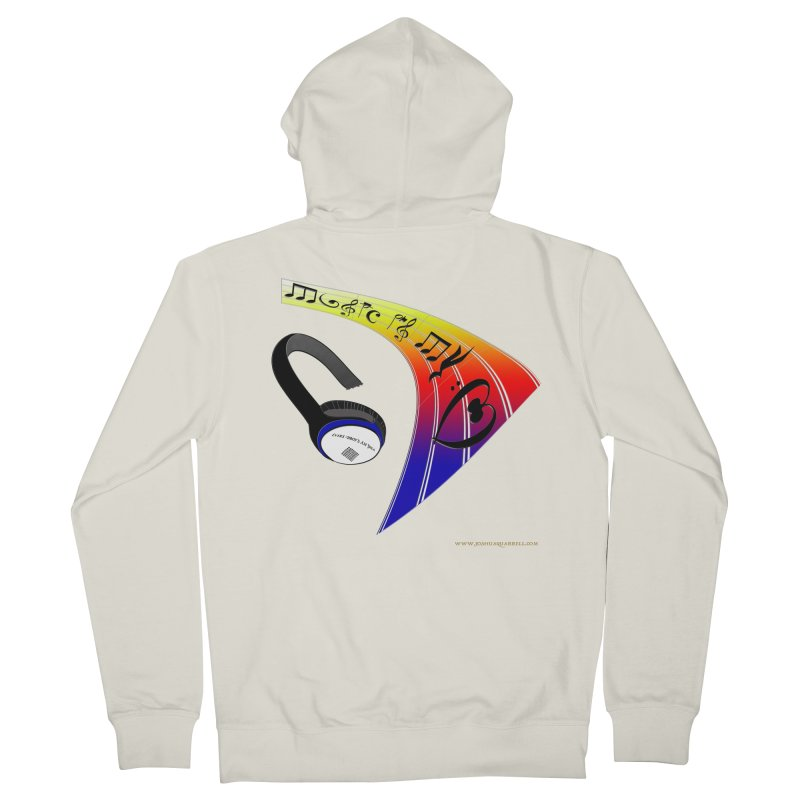 Music Is My Heart Women's French Terry Zip-Up Hoody by Every Drop's An Idea's Artist Shop