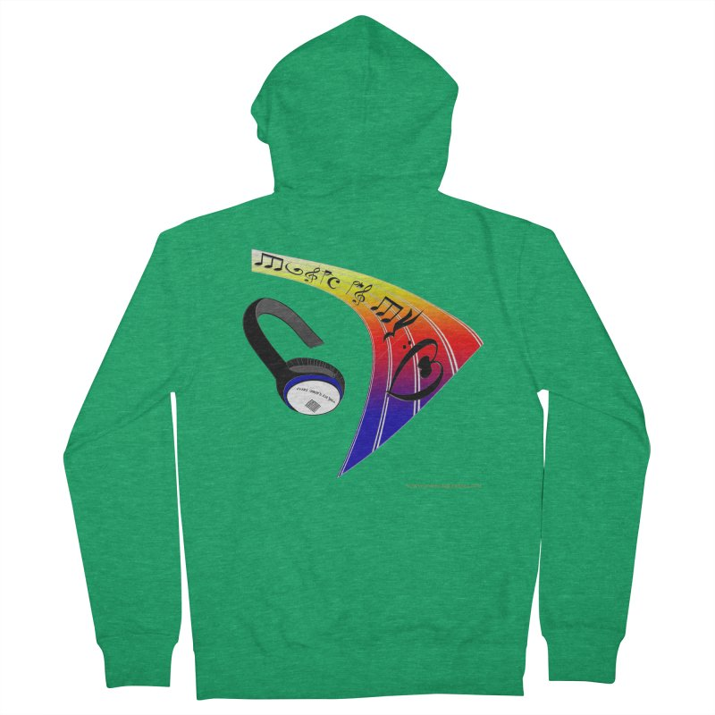 Music Is My Heart Men's Zip-Up Hoody by Every Drop's An Idea's Artist Shop