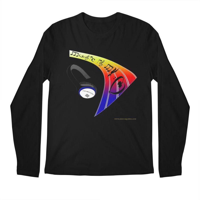 Music Is My Heart Men's Regular Longsleeve T-Shirt by Every Drop's An Idea's Artist Shop