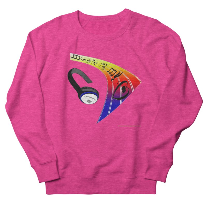 Music Is My Heart Men's French Terry Sweatshirt by Every Drop's An Idea's Artist Shop