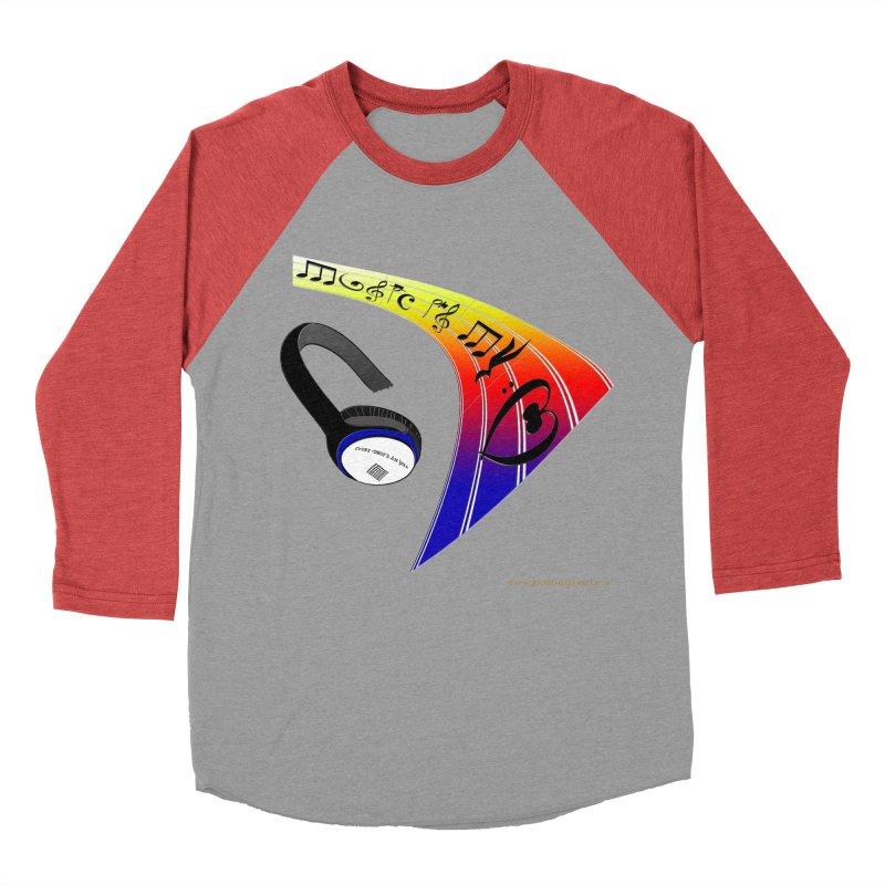 Music Is My Heart Women's Baseball Triblend Longsleeve T-Shirt by Every Drop's An Idea's Artist Shop