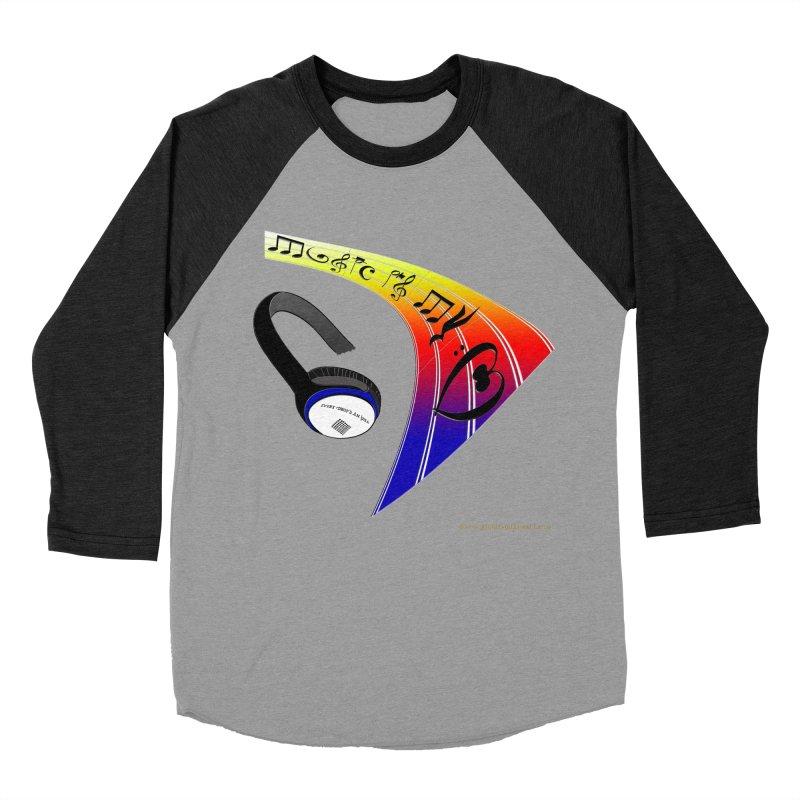 Music Is My Heart Women's Baseball Triblend T-Shirt by Every Drop's An Idea's Artist Shop