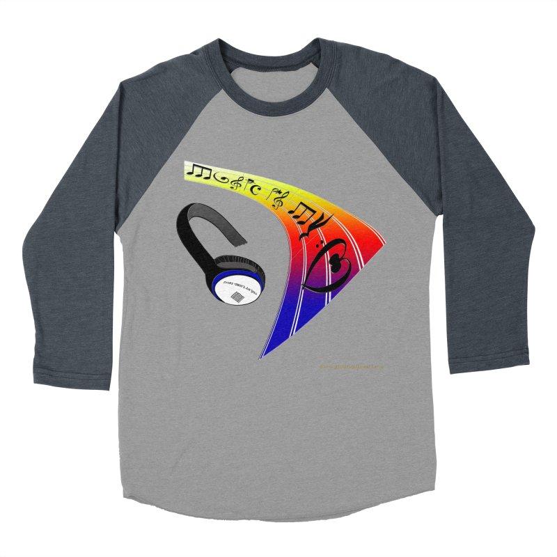 Music Is My Heart Men's Baseball Triblend Longsleeve T-Shirt by Every Drop's An Idea's Artist Shop