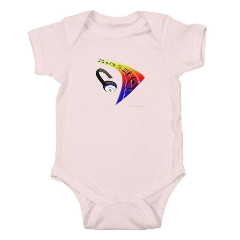 Music Is My Heart Kids Baby Bodysuit by Every Drop's An Idea's Artist Shop