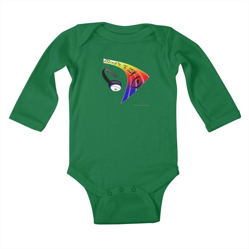 Music Is My Heart Kids Baby Longsleeve Bodysuit by Every Drop's An Idea's Artist Shop
