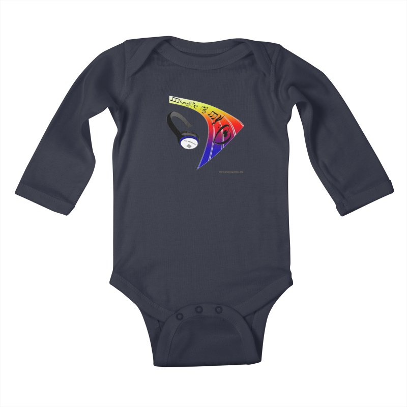 Music Is My Heart Kids Baby Longsleeve Bodysuit by Every Drop's An Idea's Artist Shop