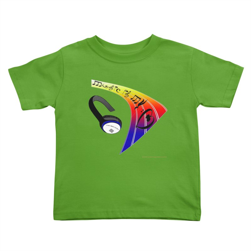 Music Is My Heart Youth Toddler T-Shirt by Every Drop's An Idea's Artist Shop