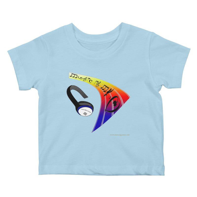 Music Is My Heart Kids Baby T-Shirt by Every Drop's An Idea's Artist Shop
