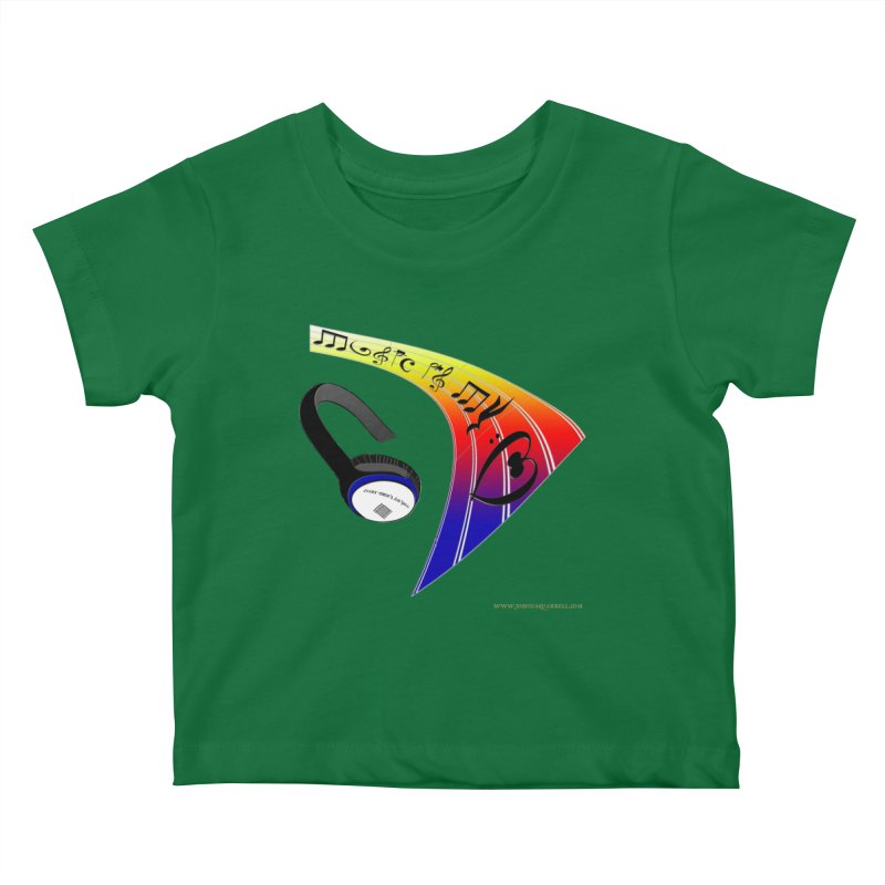 Music Is My Heart Kids Baby T-Shirt by Every Drop's An Idea's Artist Shop