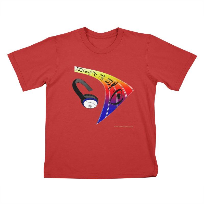 Music Is My Heart Kids T-Shirt by Every Drop's An Idea's Artist Shop
