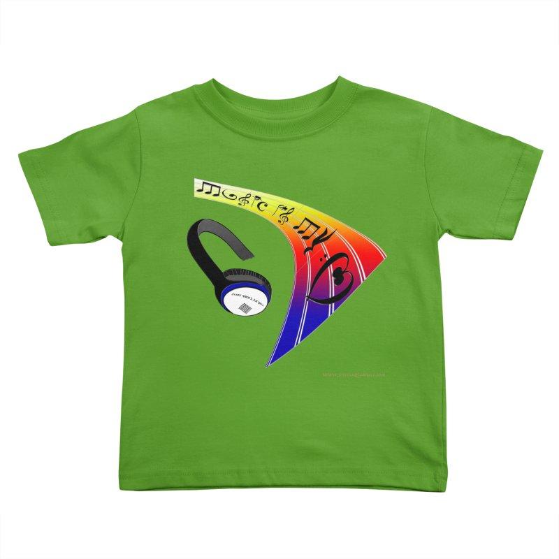 Music Is My Heart Kids Toddler T-Shirt by Every Drop's An Idea's Artist Shop