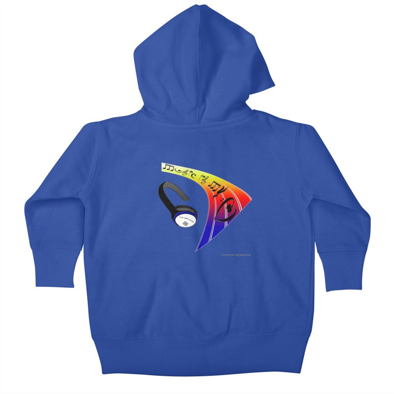 Music Is My Heart Kids Baby Zip-Up Hoody by Every Drop's An Idea's Artist Shop