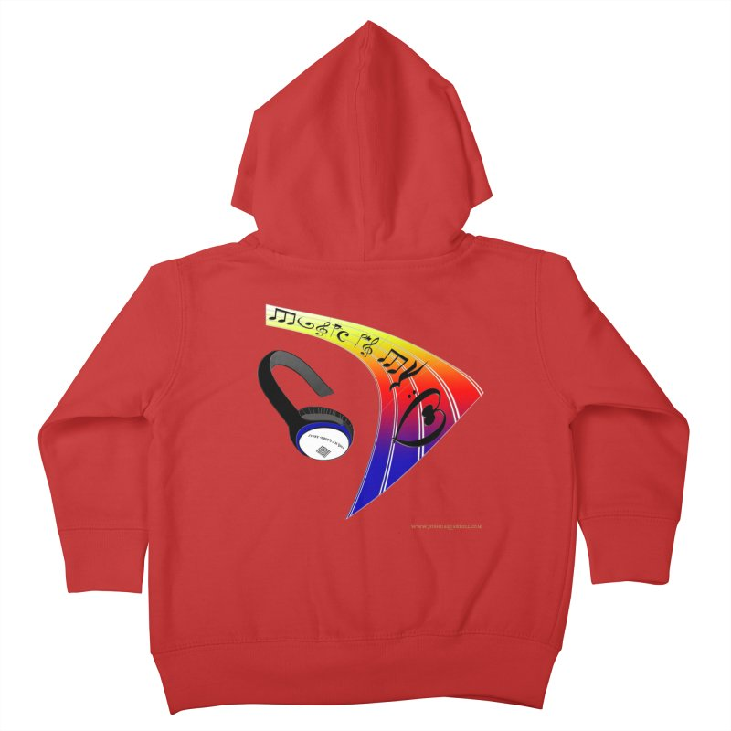 Music Is My Heart Kids Toddler Zip-Up Hoody by Every Drop's An Idea's Artist Shop
