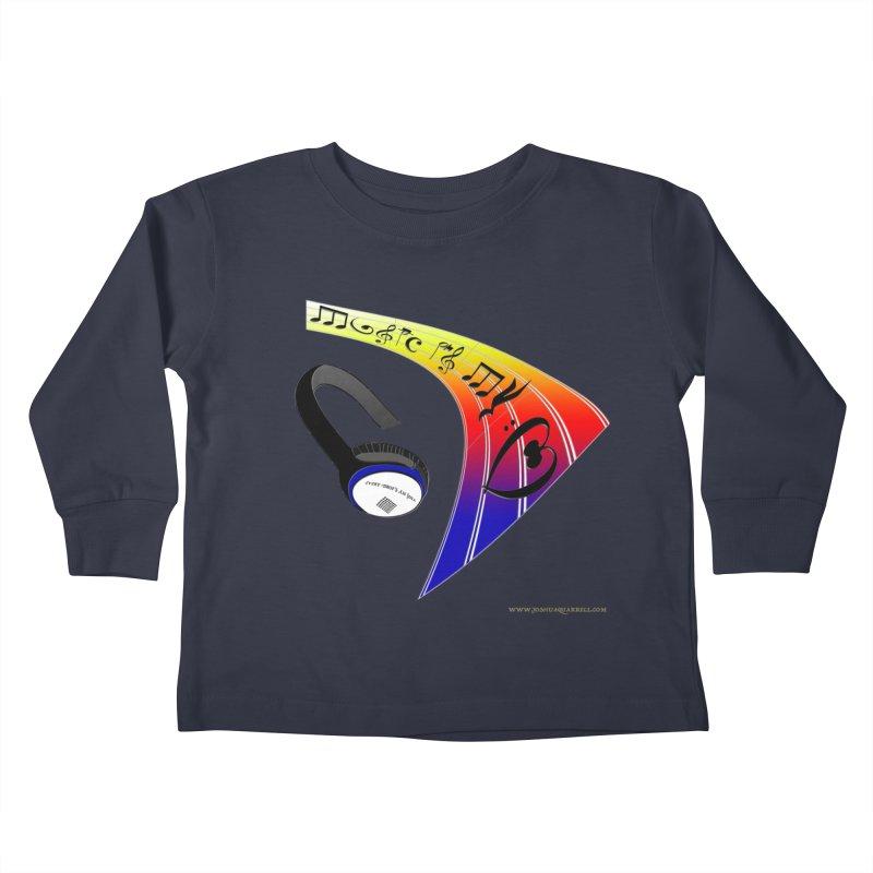 Music Is My Heart Kids Toddler Longsleeve T-Shirt by Every Drop's An Idea's Artist Shop
