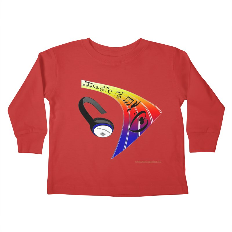 Music Is My Heart Kids Toddler Longsleeve T-Shirt by Every Drop's An Idea's Artist Shop