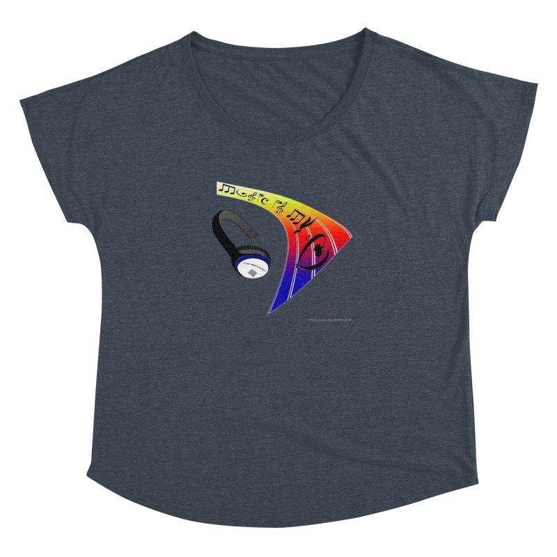 Music Is My Heart Women's Dolman Scoop Neck by Every Drop's An Idea's Artist Shop