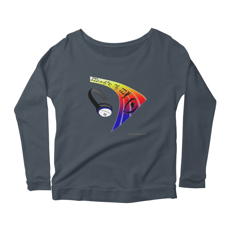 Music Is My Heart Women's Scoop Neck Longsleeve T-Shirt by Every Drop's An Idea's Artist Shop