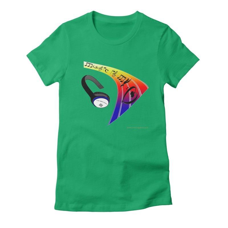 Music Is My Heart Women's Fitted T-Shirt by Every Drop's An Idea's Artist Shop