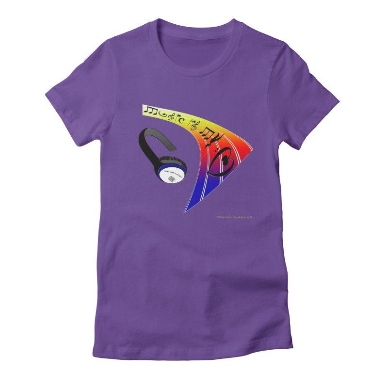 Music Is My Heart Women's T-Shirt by Every Drop's An Idea's Artist Shop