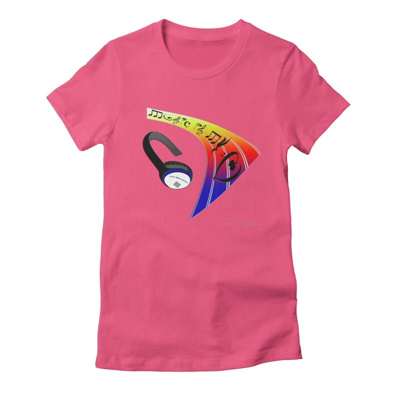 Music Is My Heart Women's Fitted T-Shirt by Every Drop's An Idea's Artist Shop
