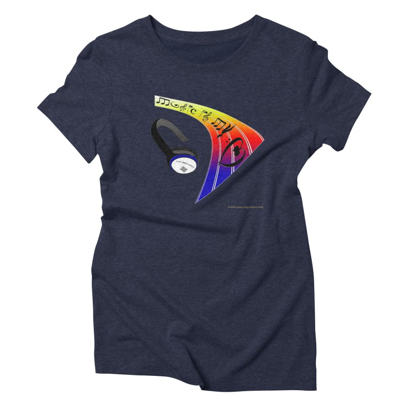 Music Is My Heart Women's Triblend T-Shirt by Every Drop's An Idea's Artist Shop