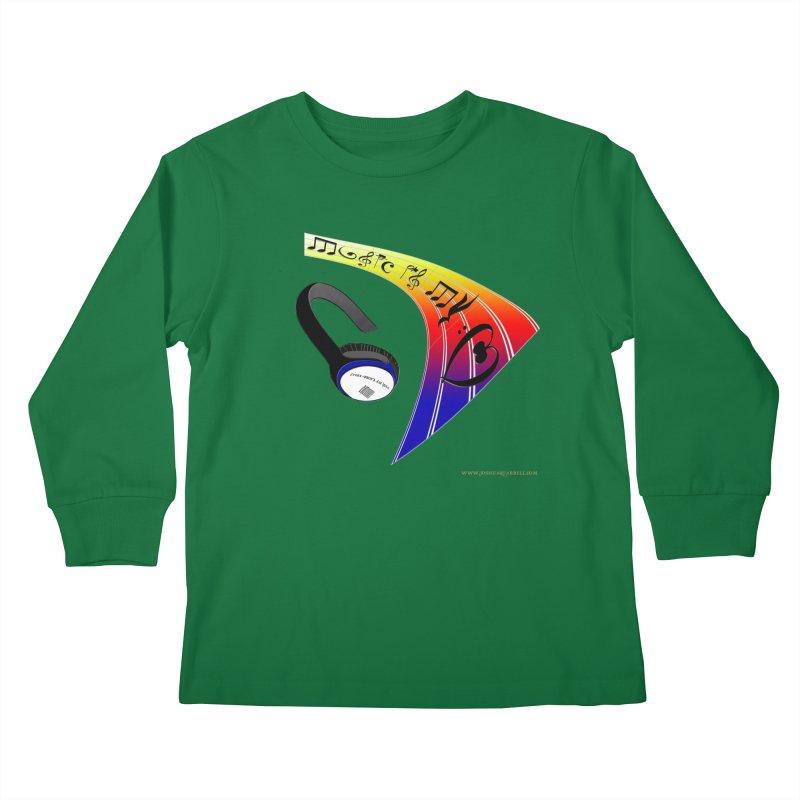 Music Is My Heart Kids Longsleeve T-Shirt by Every Drop's An Idea's Artist Shop