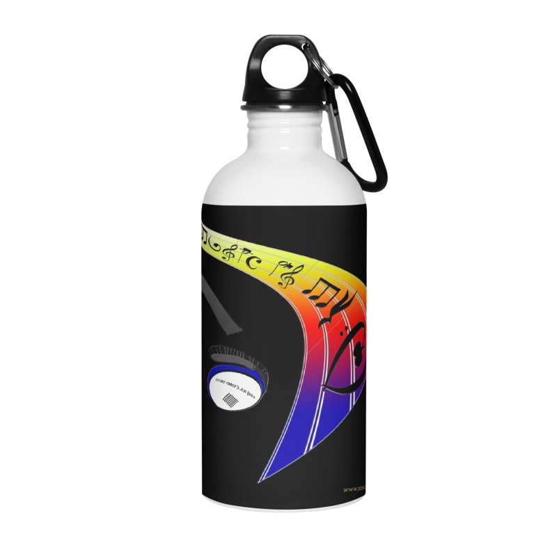 Music Is My Heart Accessories Water Bottle by Every Drop's An Idea's Artist Shop