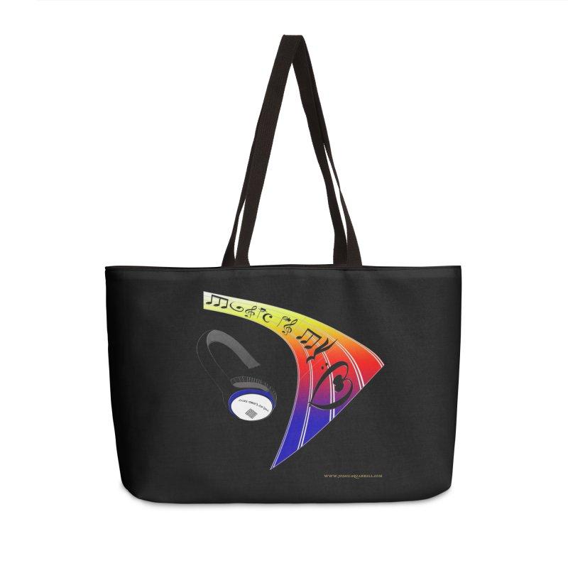 Music Is My Heart Accessories Weekender Bag Bag by Every Drop's An Idea's Artist Shop