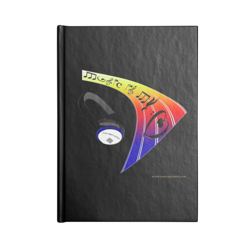 Music Is My Heart Accessories Blank Journal Notebook by Every Drop's An Idea's Artist Shop