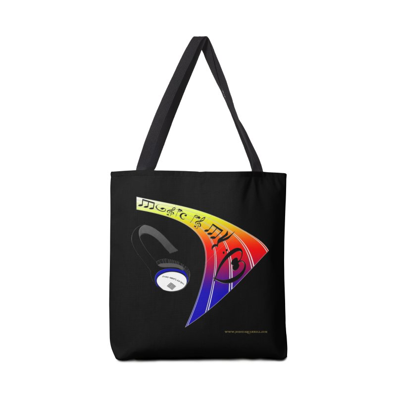 Music Is My Heart Accessories Bag by Every Drop's An Idea's Artist Shop
