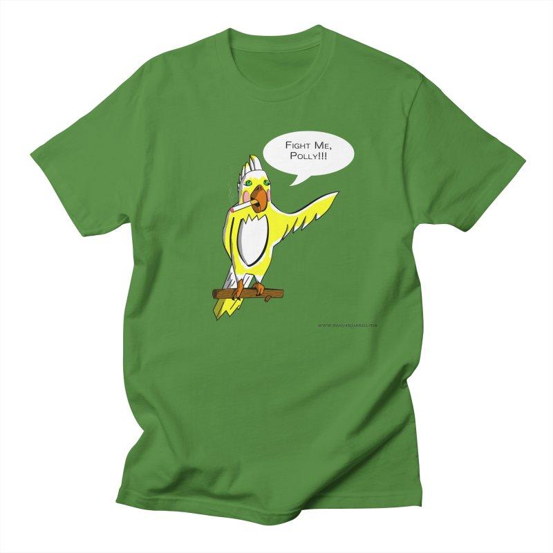Fight Me, Polly!!! Men's Regular T-Shirt by Every Drop's An Idea's Artist Shop
