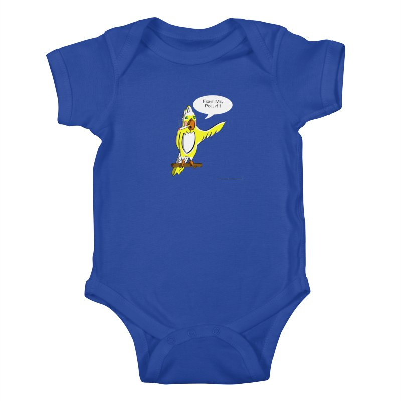 Fight Me, Polly!!! Kids Baby Bodysuit by Every Drop's An Idea's Artist Shop