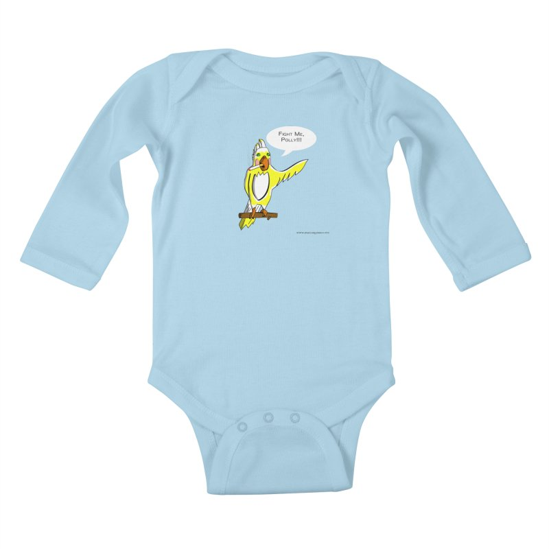 Fight Me, Polly!!! Kids Baby Longsleeve Bodysuit by Every Drop's An Idea's Artist Shop