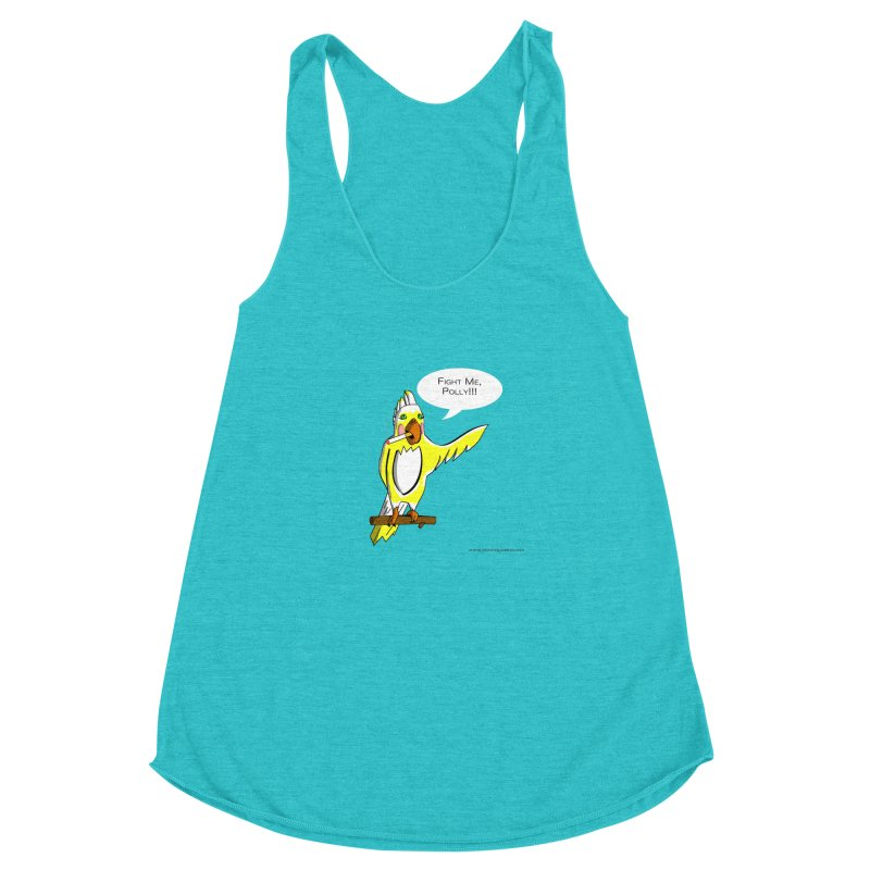 Fight Me, Polly!!! Women's Racerback Triblend Tank by Every Drop's An Idea's Artist Shop