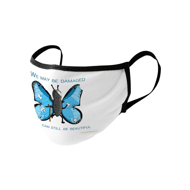 Battle Damaged Butterfly Accessories Face Mask by Every Drop's An Idea's Artist Shop